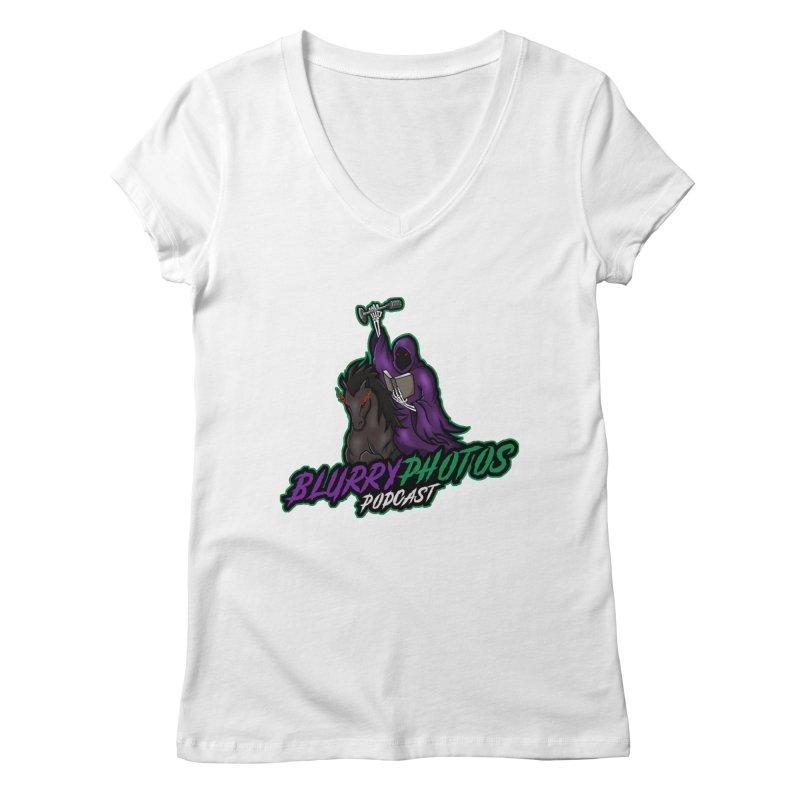Horseman Logo Women's V-Neck by Blurry Photos's Artist Shop