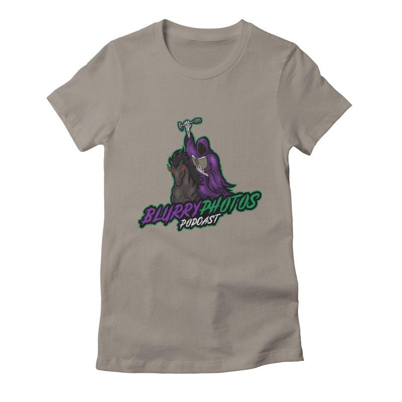 Horseman Logo Women's Fitted T-Shirt by Blurry Photos's Artist Shop