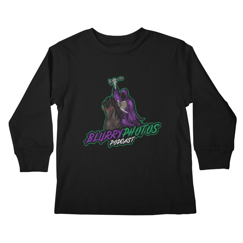 Horseman Logo Kids Longsleeve T-Shirt by Blurry Photos's Artist Shop