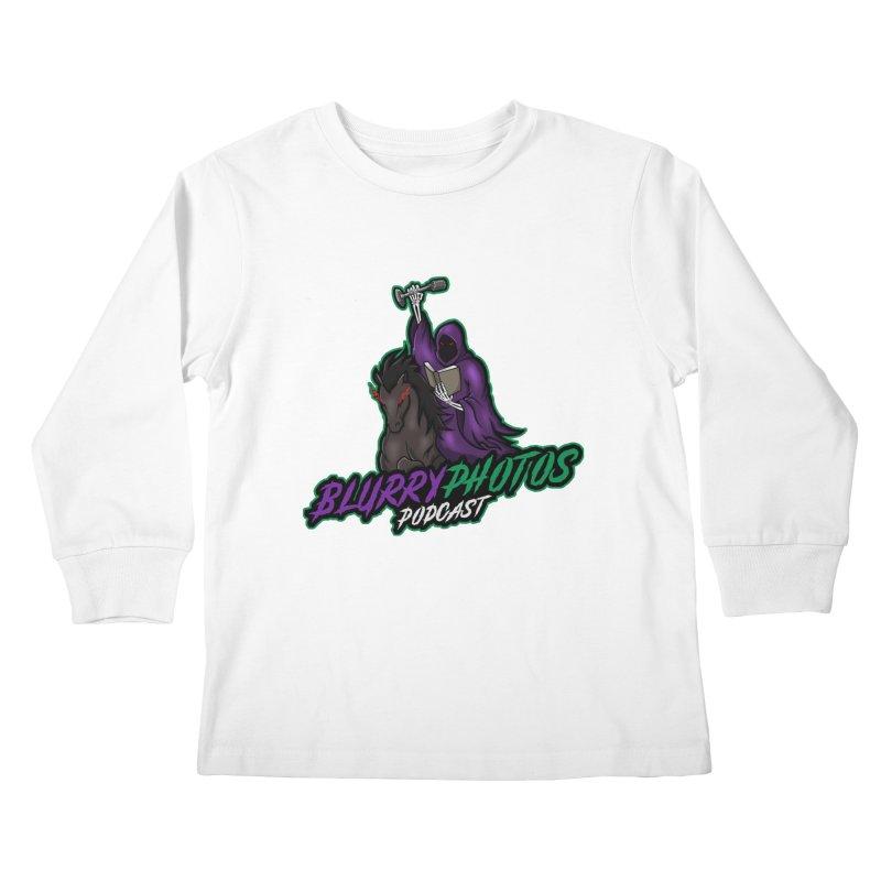 Horseman Logo Kids Longsleeve T-Shirt by Blurry Photos's Artist Shop