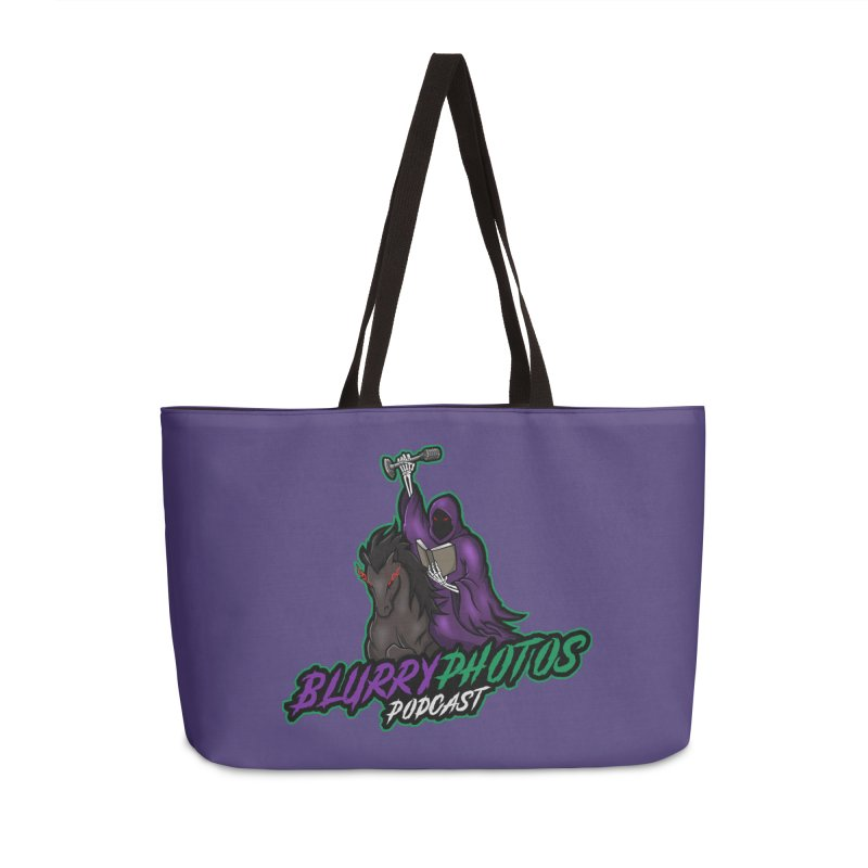 Horseman Logo Accessories Weekender Bag Bag by Blurry Photos's Artist Shop