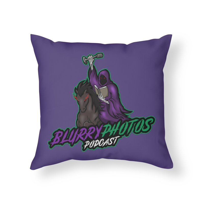 Horseman Logo Home Throw Pillow by Blurry Photos's Artist Shop