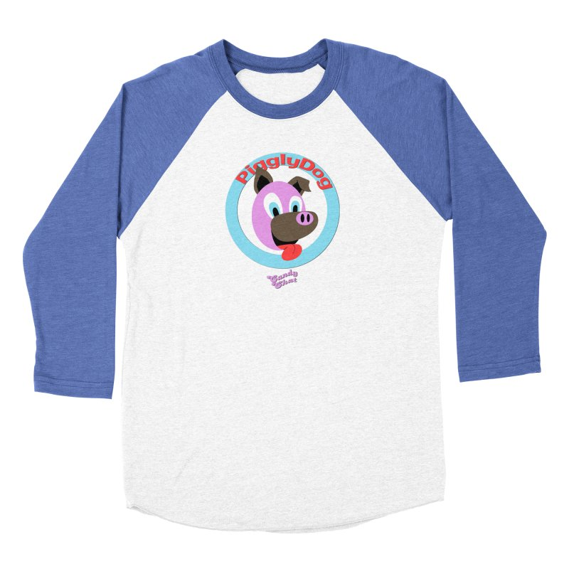 Piggly Dog Men's Baseball Triblend Longsleeve T-Shirt by Blurry Photos's Artist Shop