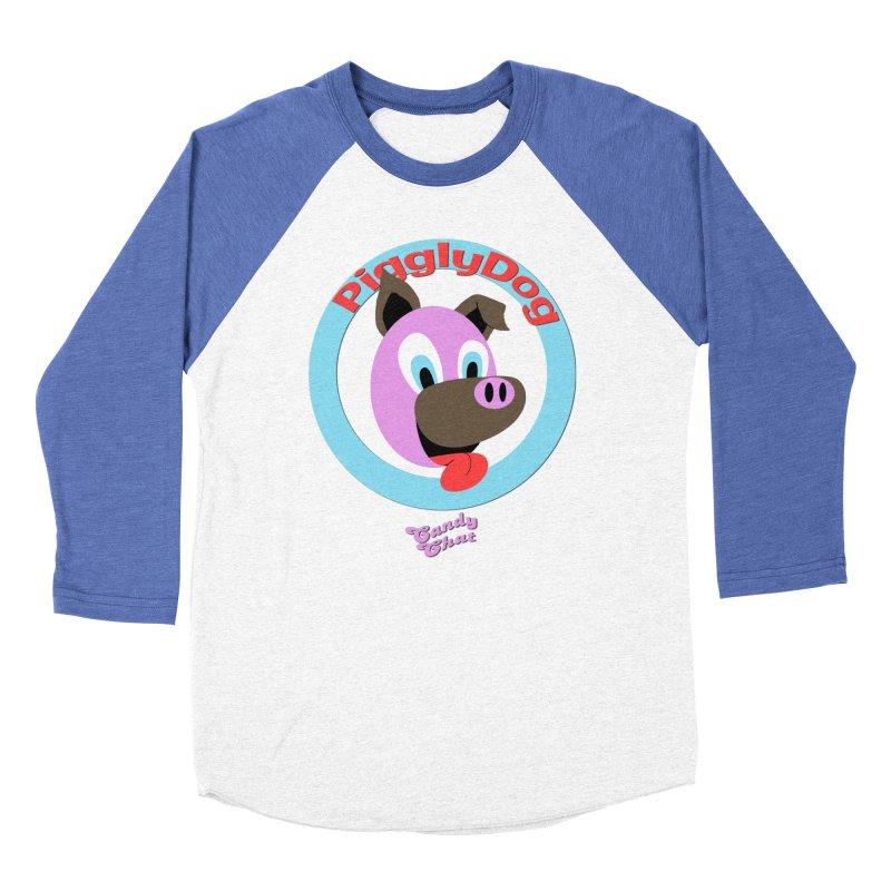 Piggly Dog Men's Baseball Triblend Longsleeve T-Shirt by Blurry Photos's Artist Shop