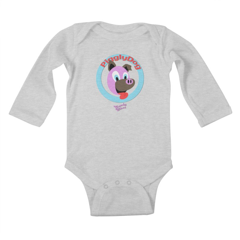 Piggly Dog Kids Baby Longsleeve Bodysuit by Blurry Photos's Artist Shop