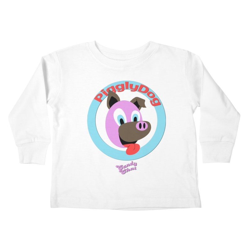 Piggly Dog Kids Toddler Longsleeve T-Shirt by Blurry Photos's Artist Shop