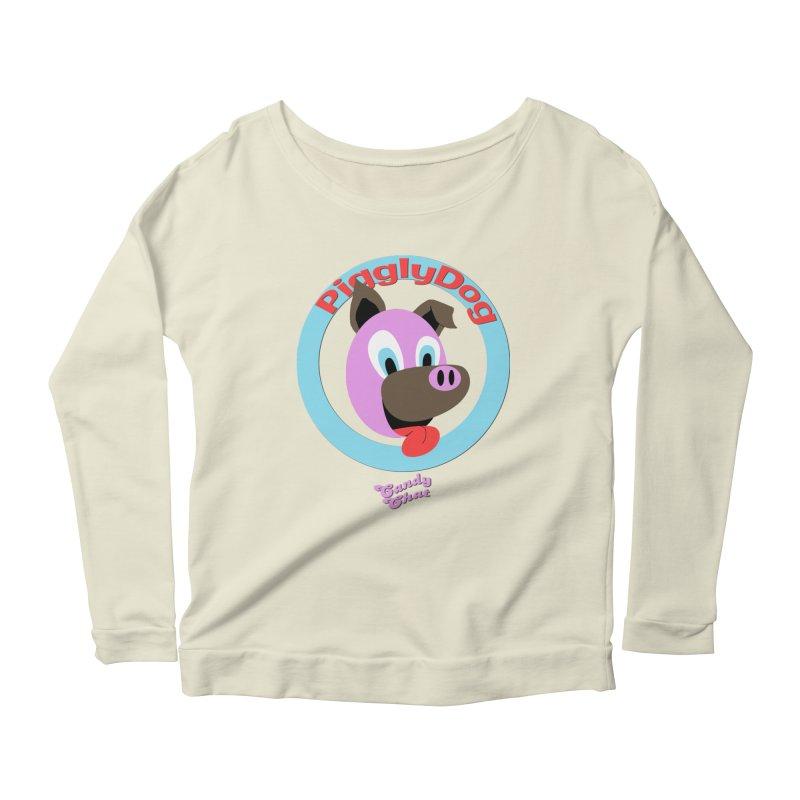 Piggly Dog Women's Scoop Neck Longsleeve T-Shirt by Blurry Photos's Artist Shop
