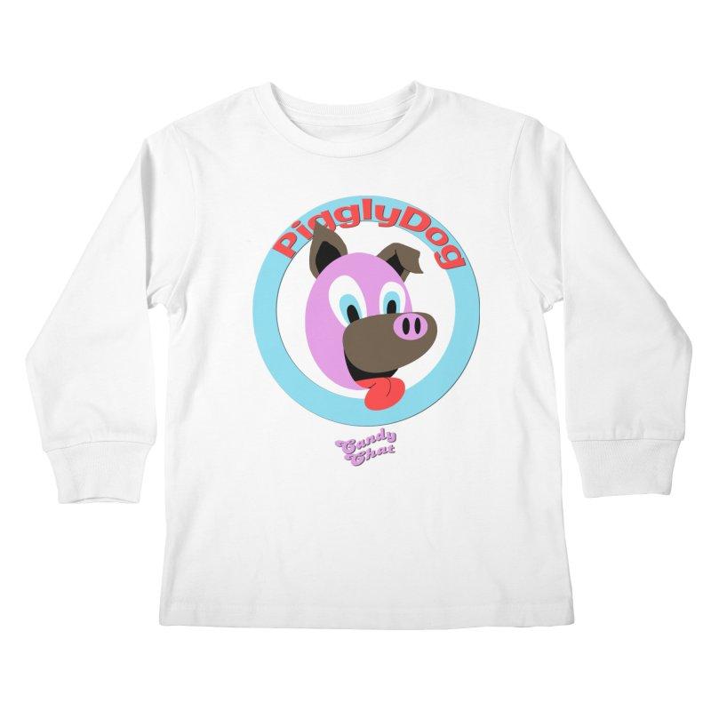 Piggly Dog Kids Longsleeve T-Shirt by Blurry Photos's Artist Shop