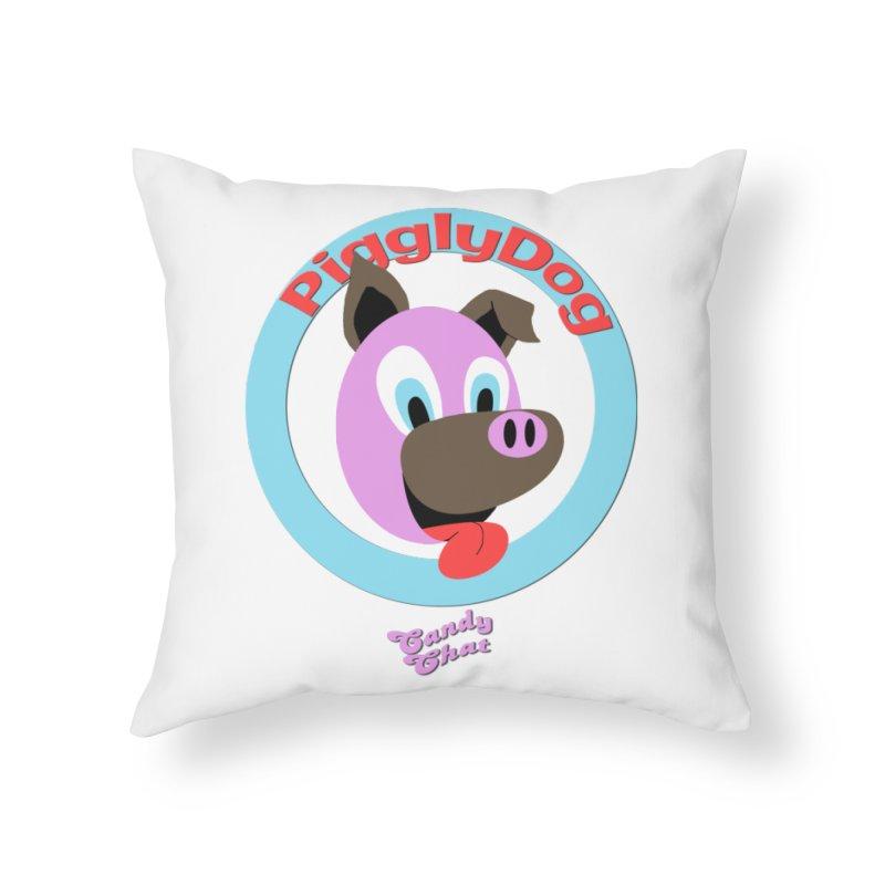 Piggly Dog Home Throw Pillow by Blurry Photos's Artist Shop