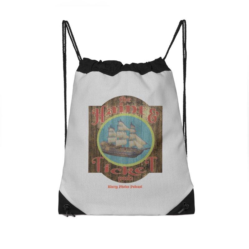 Haint & Ticket Pub Accessories Drawstring Bag Bag by Blurry Photos's Artist Shop