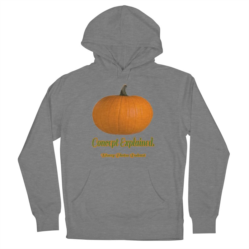Pumpkin Explanation Men's French Terry Pullover Hoody by Blurry Photos's Artist Shop