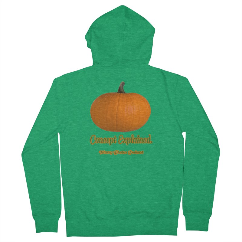 Pumpkin Explanation Women's Zip-Up Hoody by Blurry Photos's Artist Shop