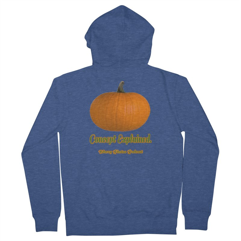 Pumpkin Explanation Women's French Terry Zip-Up Hoody by Blurry Photos's Artist Shop