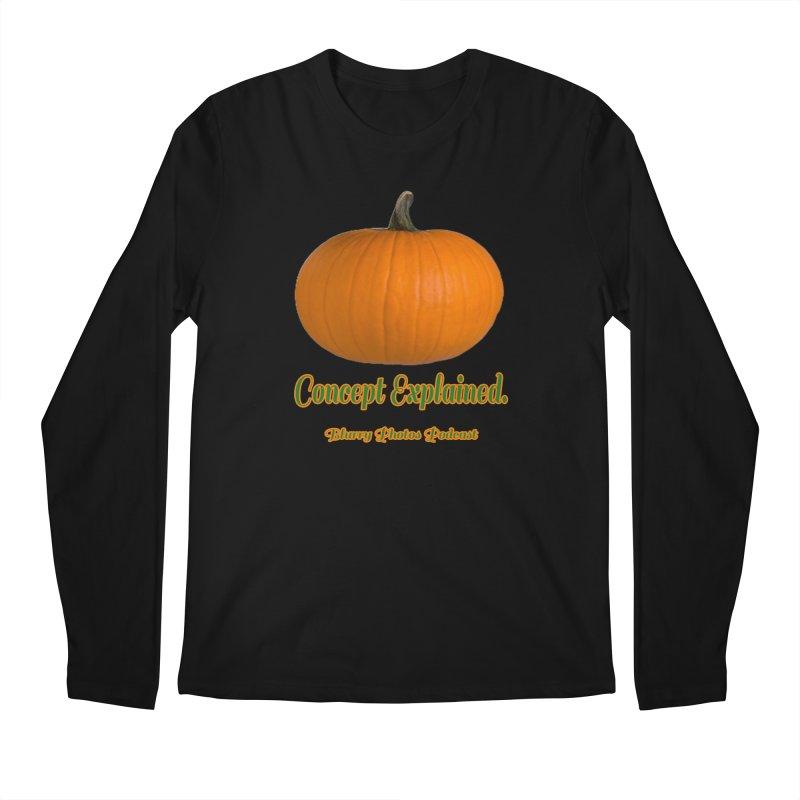 Pumpkin Explanation Men's Longsleeve T-Shirt by Blurry Photos's Artist Shop