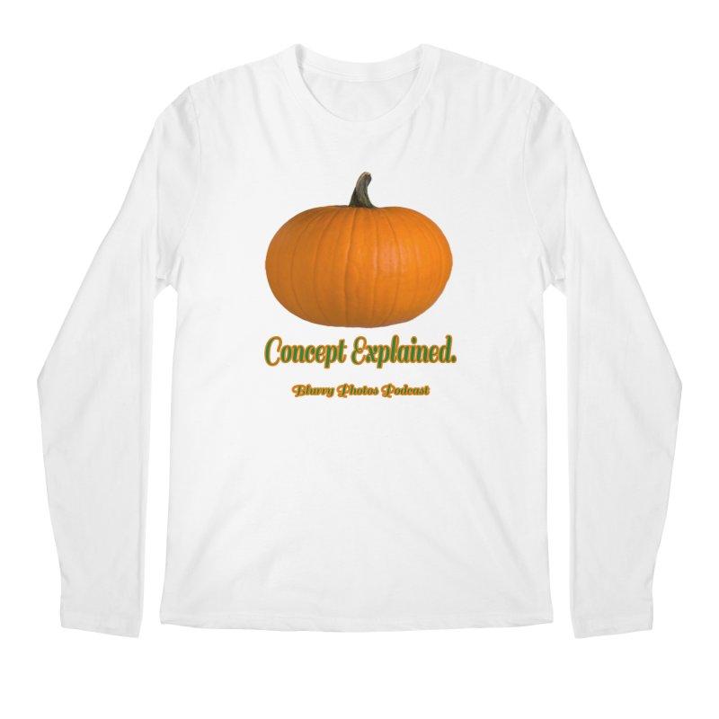 Pumpkin Explanation Men's Regular Longsleeve T-Shirt by Blurry Photos's Artist Shop