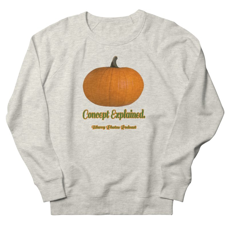 Pumpkin Explanation Men's French Terry Sweatshirt by Blurry Photos's Artist Shop