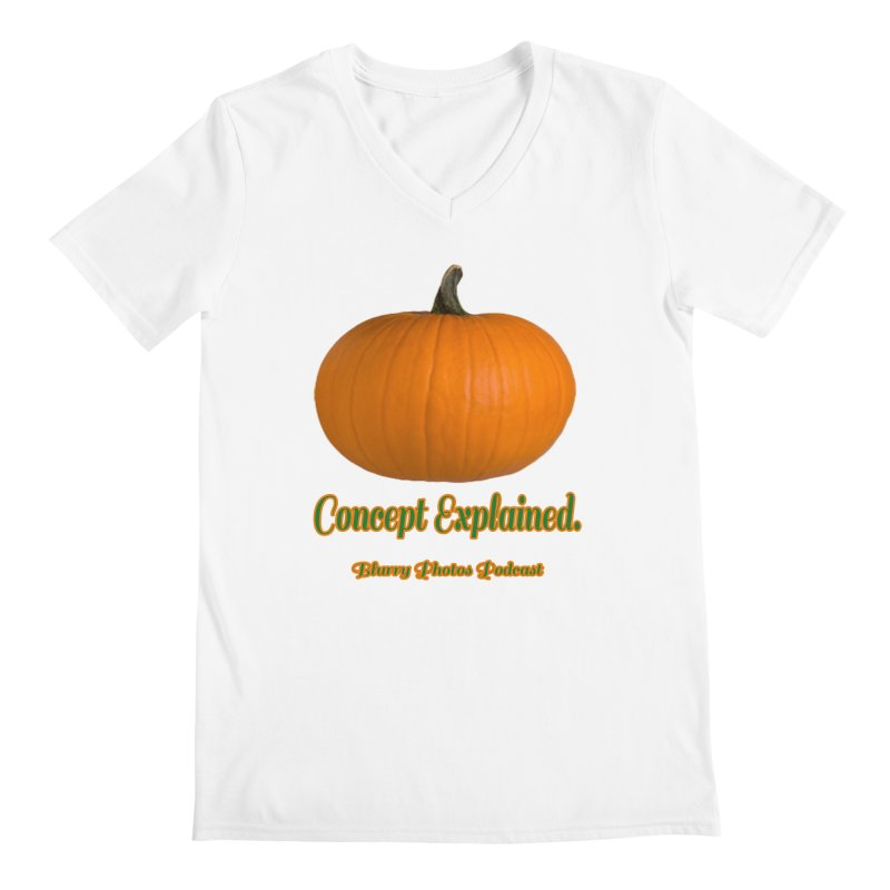 Pumpkin Explanation Men's V-Neck by Blurry Photos's Artist Shop
