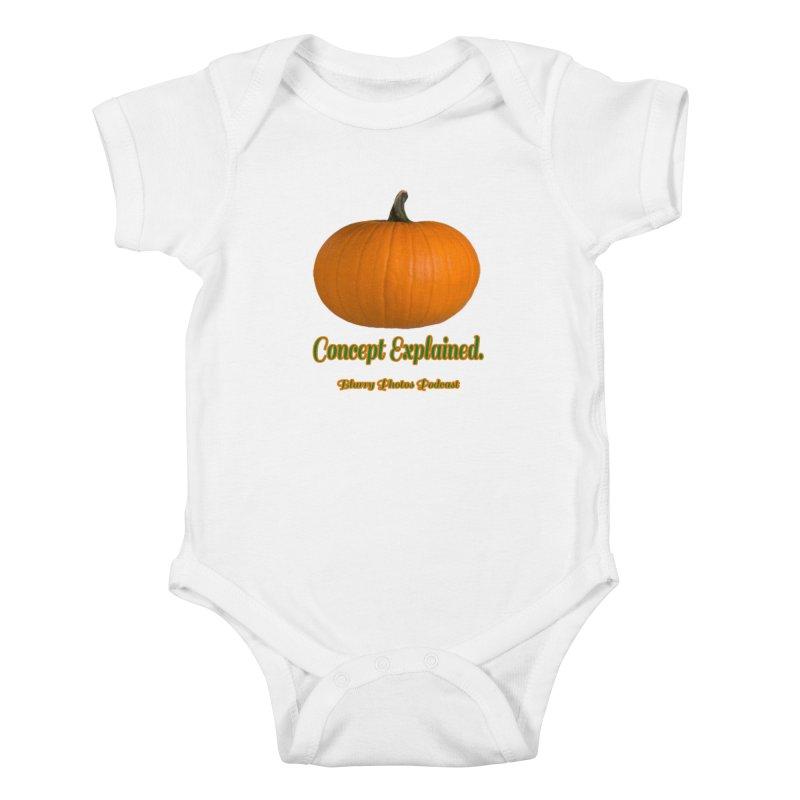 Pumpkin Explanation Kids Baby Bodysuit by Blurry Photos's Artist Shop
