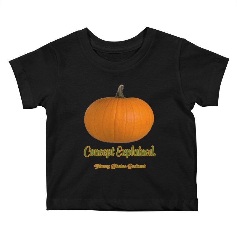 Pumpkin Explanation Kids Baby T-Shirt by Blurry Photos's Artist Shop