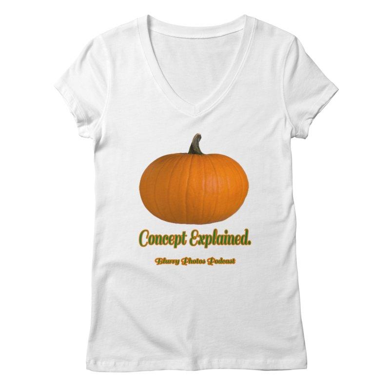 Pumpkin Explanation Women's V-Neck by Blurry Photos's Artist Shop