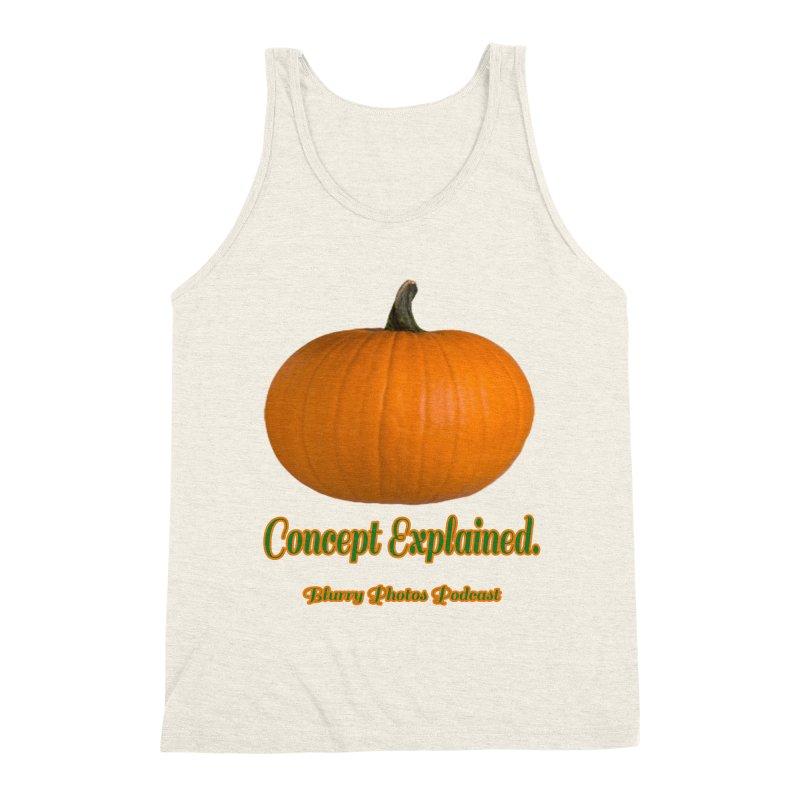 Pumpkin Explanation Men's Triblend Tank by Blurry Photos's Artist Shop