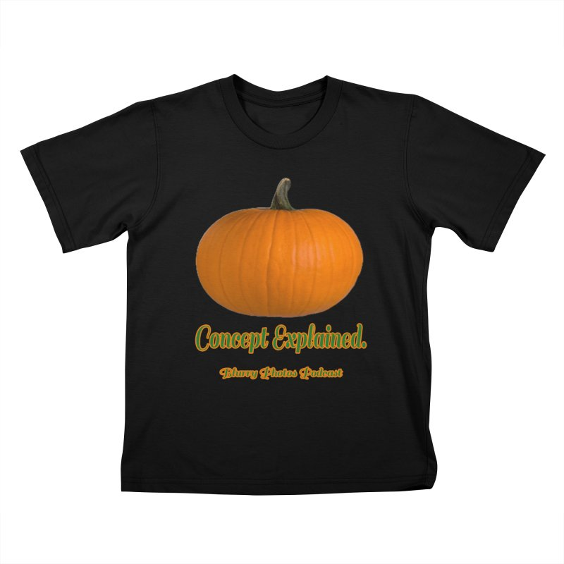 Pumpkin Explanation Kids T-Shirt by Blurry Photos's Artist Shop