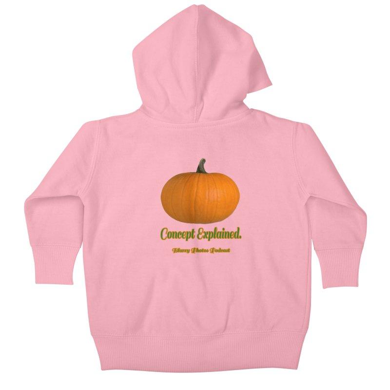 Pumpkin Explanation Kids Baby Zip-Up Hoody by Blurry Photos's Artist Shop