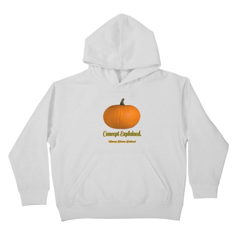 Pumpkin Explanation Kids Pullover Hoody by Blurry Photos's Artist Shop
