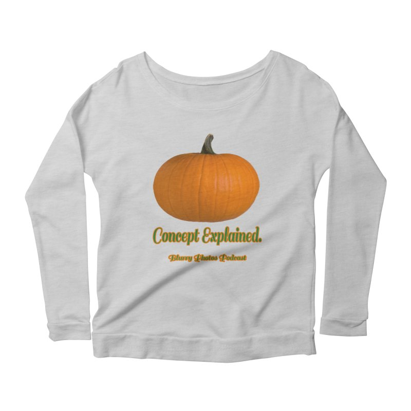 Pumpkin Explanation Women's Longsleeve T-Shirt by Blurry Photos's Artist Shop
