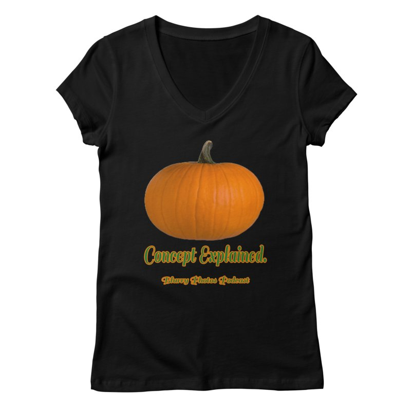 Pumpkin Explanation Women's V-Neck by Blurry Photos's Artist Shop