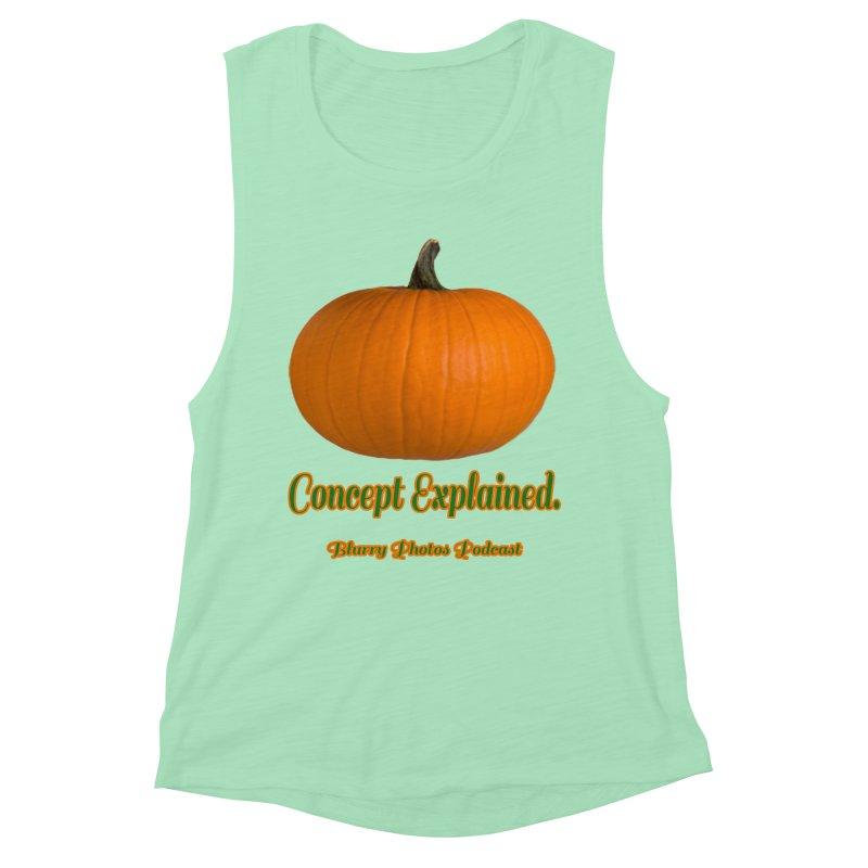 Pumpkin Explanation Women's Muscle Tank by Blurry Photos's Artist Shop