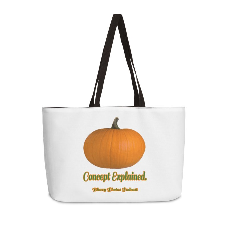 Pumpkin Explanation Accessories Weekender Bag Bag by Blurry Photos's Artist Shop