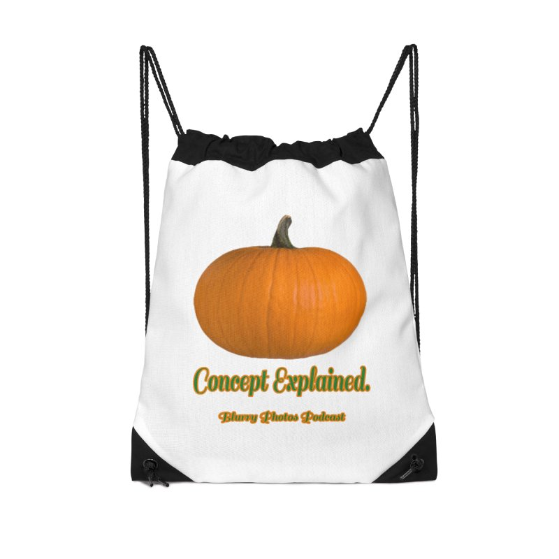 Pumpkin Explanation Accessories Drawstring Bag Bag by Blurry Photos's Artist Shop