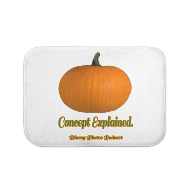 Pumpkin Explanation Home Bath Mat by Blurry Photos's Artist Shop