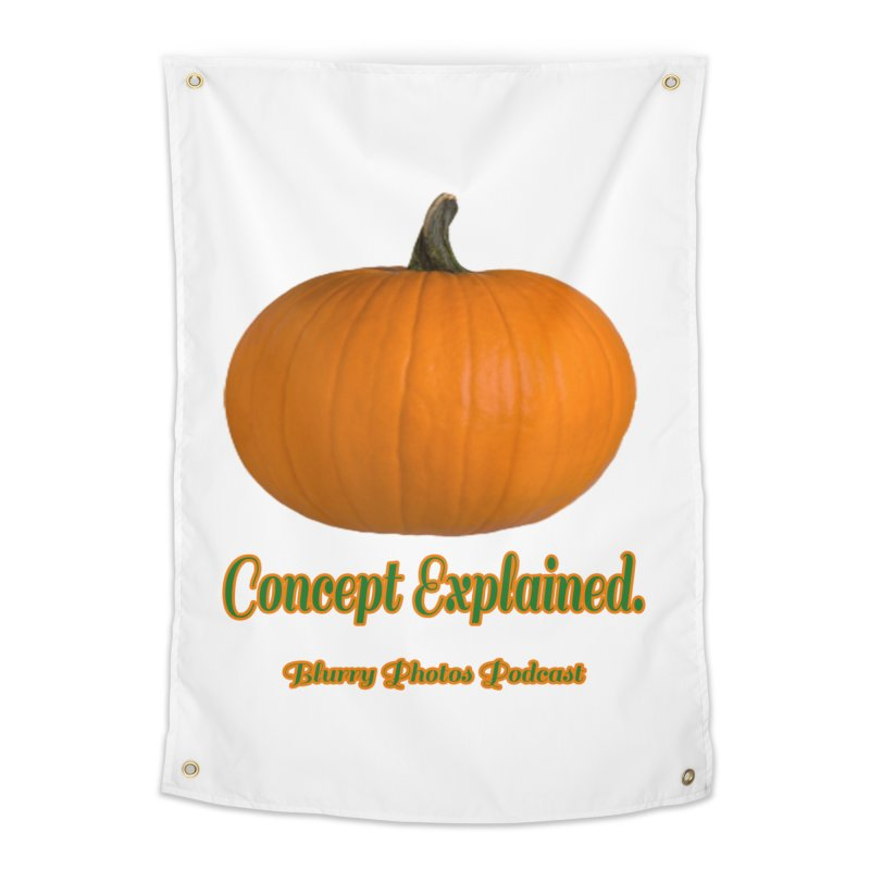 Pumpkin Explanation Home Tapestry by Blurry Photos's Artist Shop