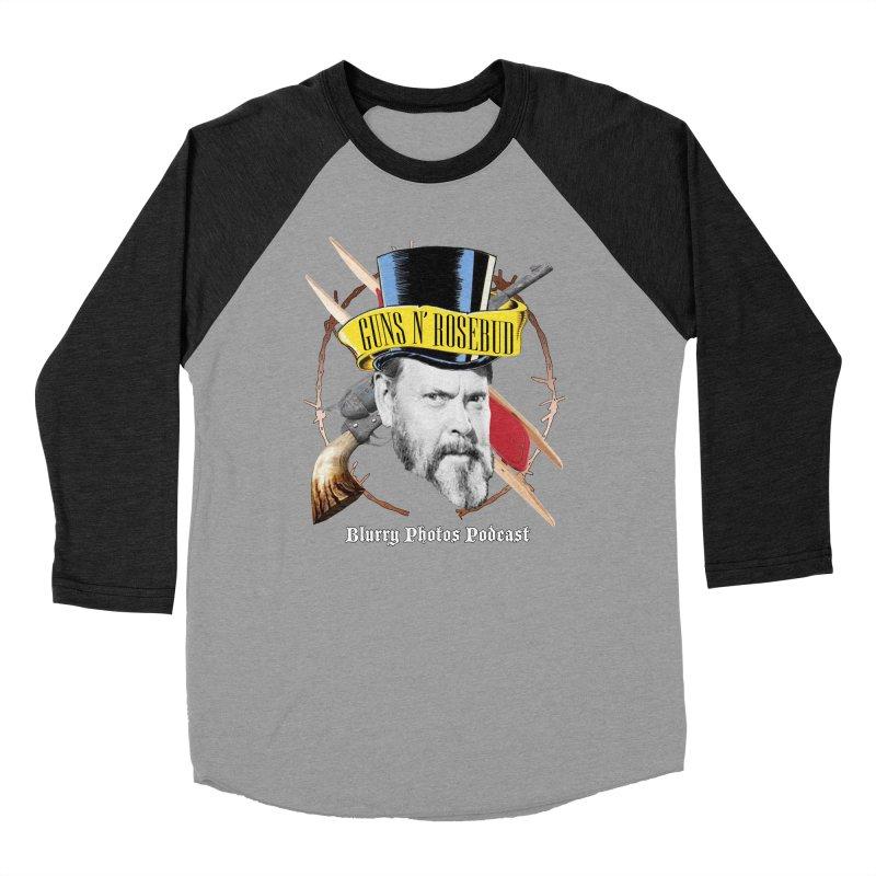Guns 'n Rosebud Men's Baseball Triblend Longsleeve T-Shirt by Blurry Photos's Artist Shop