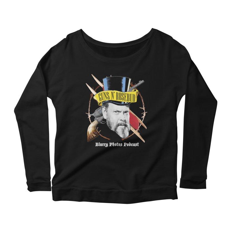Guns 'n Rosebud Women's Scoop Neck Longsleeve T-Shirt by Blurry Photos's Artist Shop