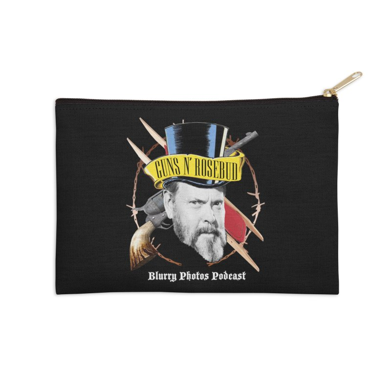 Guns 'n Rosebud Accessories Zip Pouch by Blurry Photos's Artist Shop
