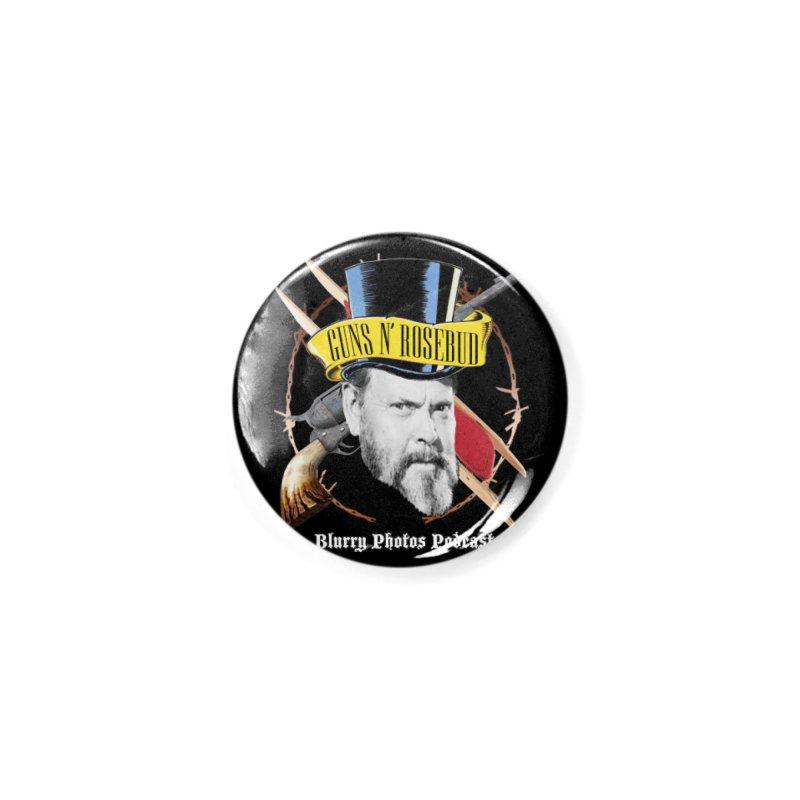 Guns 'n Rosebud Accessories Button by Blurry Photos's Artist Shop