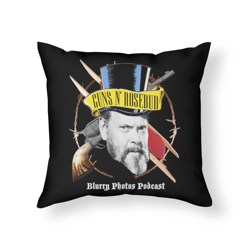 Guns 'n Rosebud Home Throw Pillow by Blurry Photos's Artist Shop