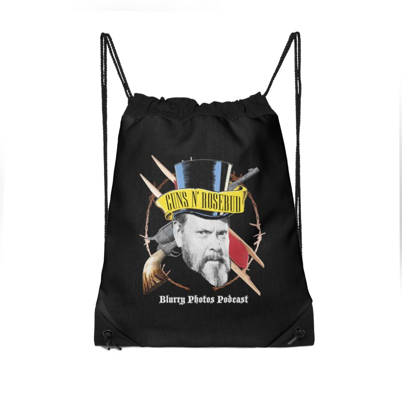 Guns 'n Rosebud Accessories Drawstring Bag Bag by Blurry Photos's Artist Shop