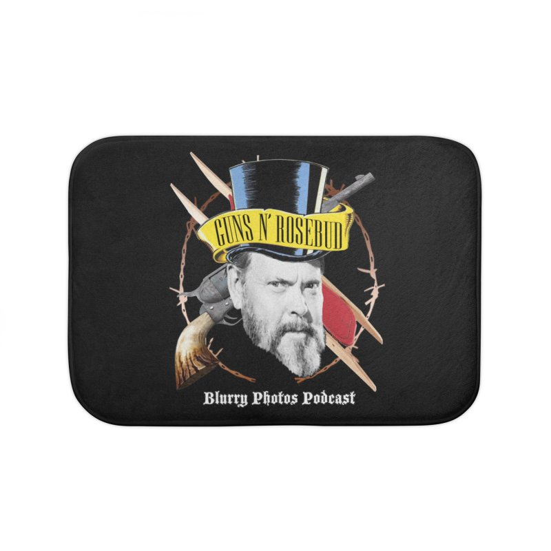Guns 'n Rosebud Home Bath Mat by Blurry Photos's Artist Shop
