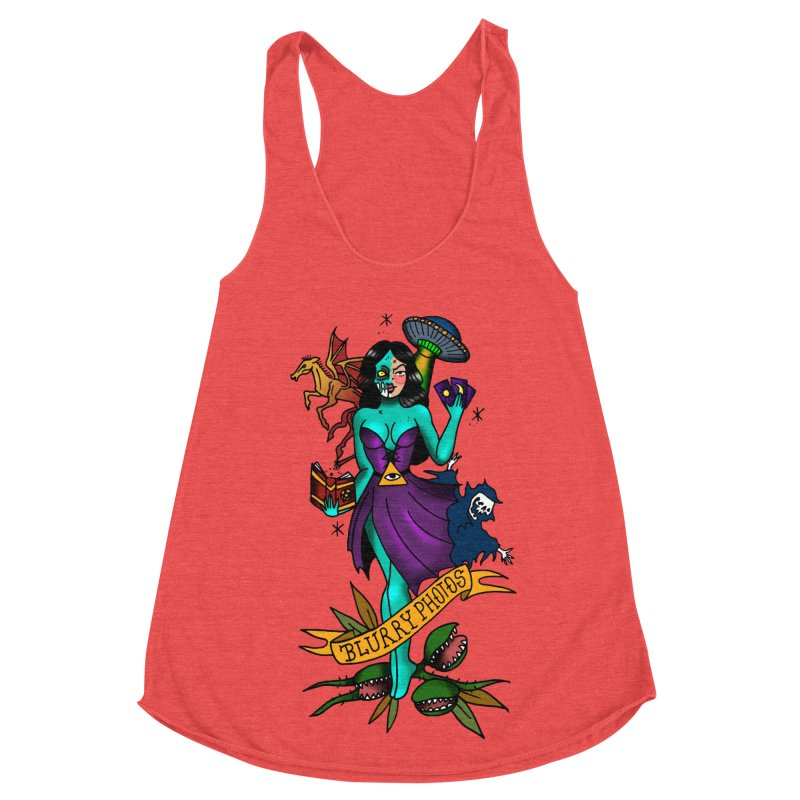 Banshee Women's Racerback Triblend Tank by Blurry Photos's Artist Shop