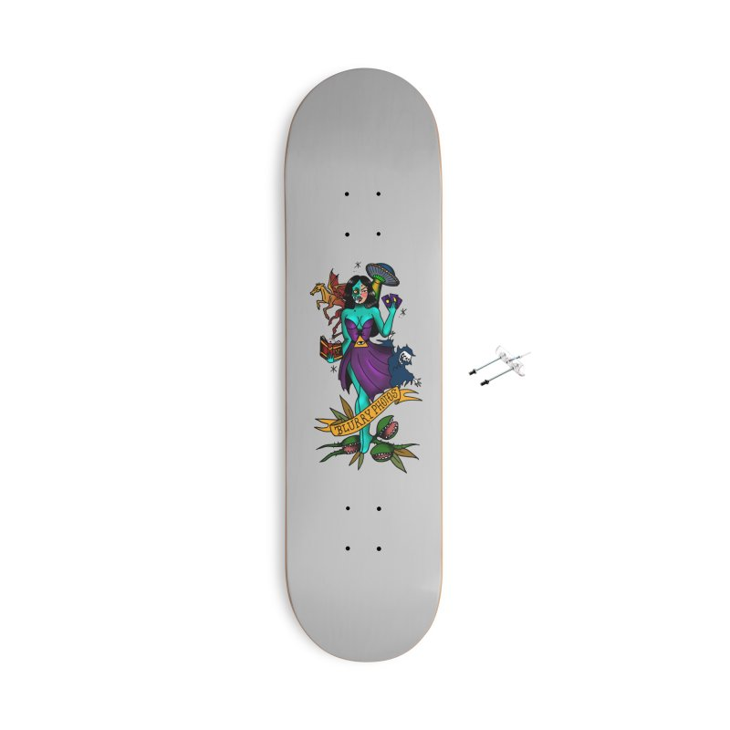 Banshee Accessories With Hanging Hardware Skateboard by Blurry Photos's Artist Shop