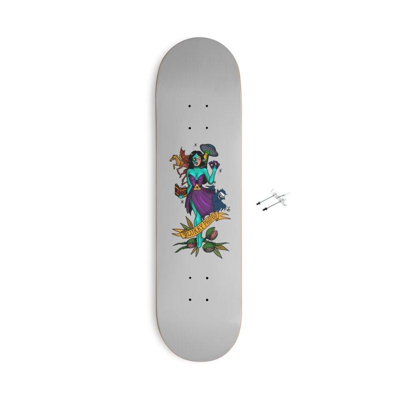 Banshee Accessories Skateboard by Blurry Photos's Artist Shop