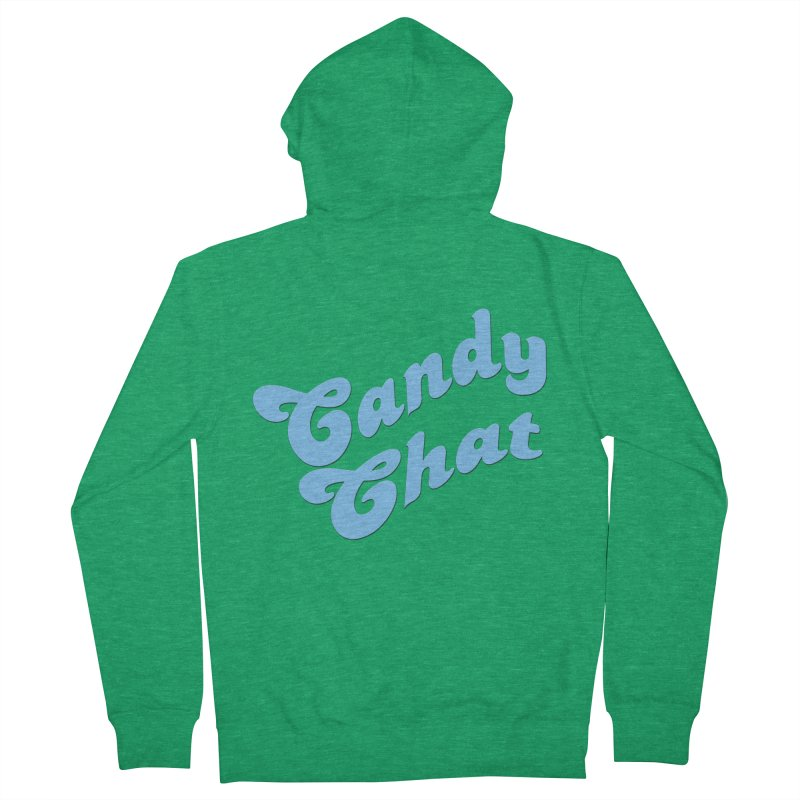 Candy Chat Logo Women's French Terry Zip-Up Hoody by Blurry Photos's Artist Shop
