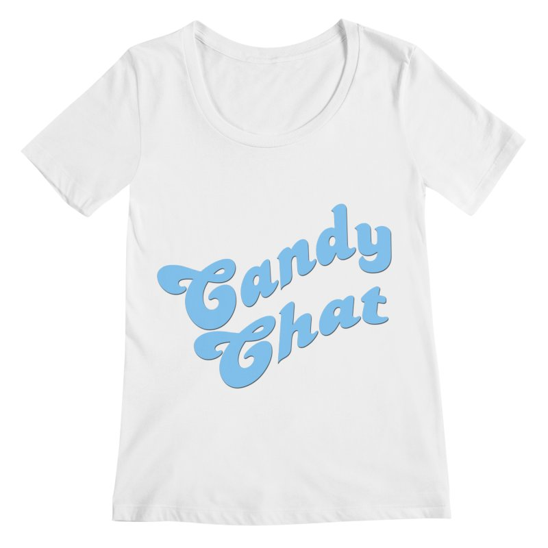 Candy Chat Logo Women's Regular Scoop Neck by Blurry Photos's Artist Shop