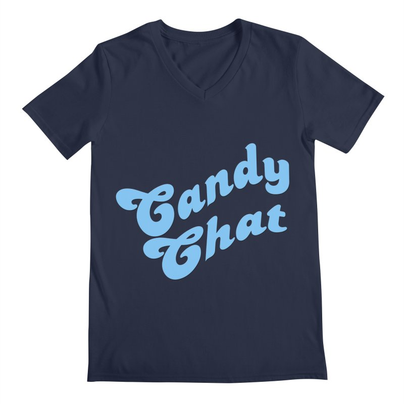 Candy Chat Logo Men's Regular V-Neck by Blurry Photos's Artist Shop