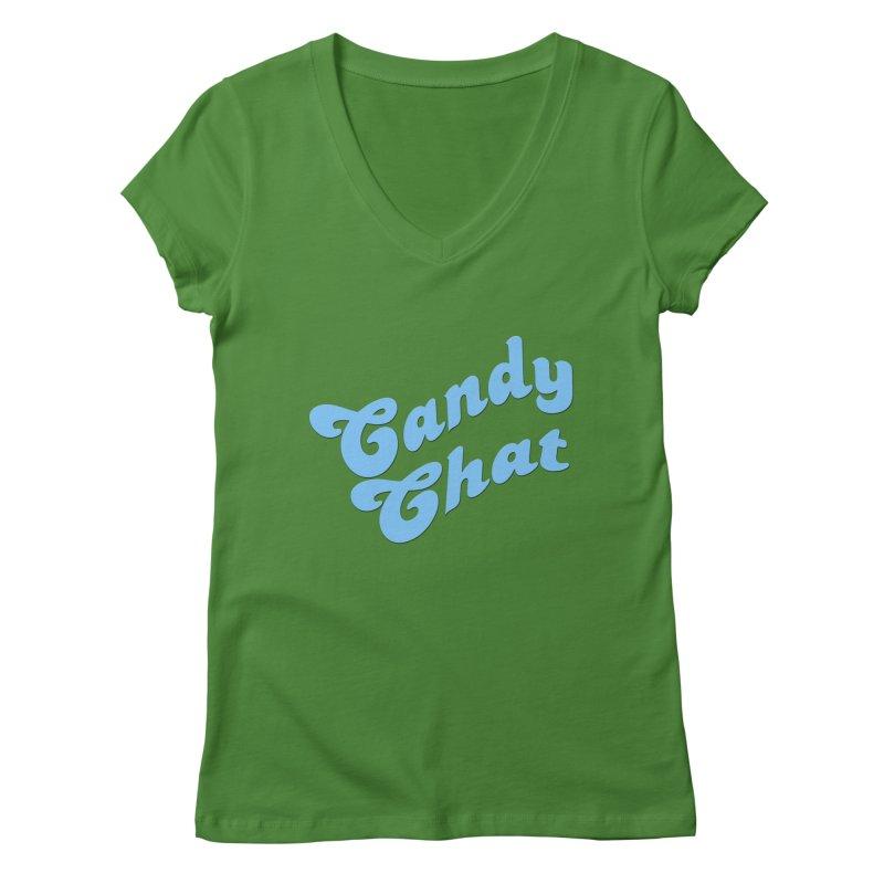Candy Chat Logo Women's Regular V-Neck by Blurry Photos's Artist Shop