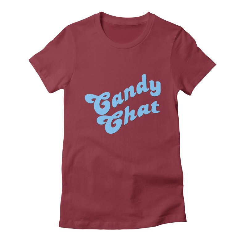 Candy Chat Logo Women's Fitted T-Shirt by Blurry Photos's Artist Shop